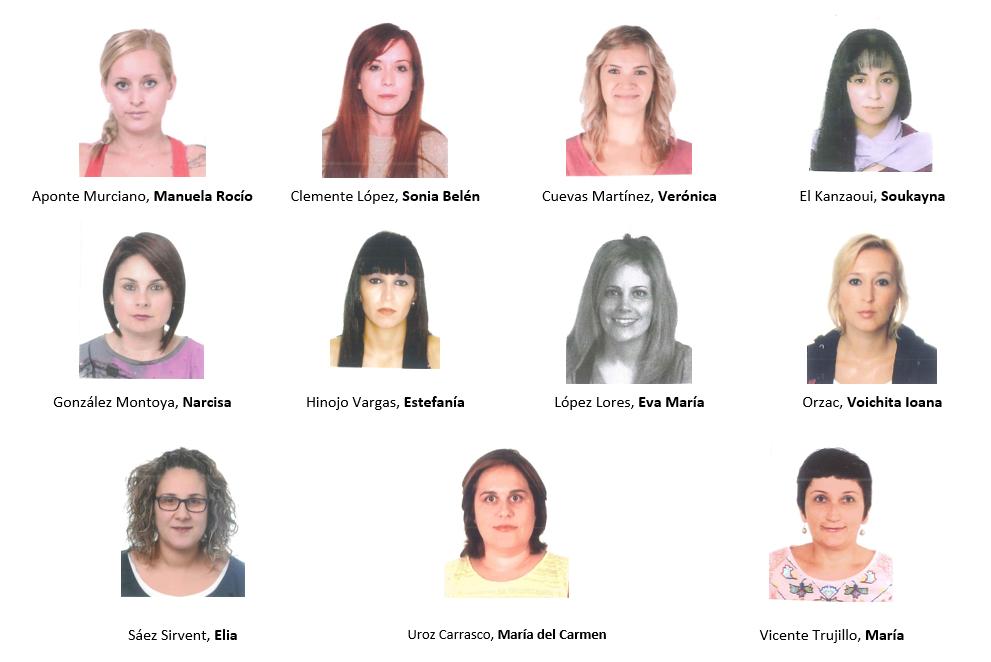Foto de las candidatas a representar a las familias en el Consejoe Escolar 2016 en el CEIP Concordia